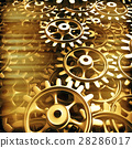 Gold gears and cogs macro 28286017