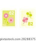 우표 62 엔과 82 엔 28288375