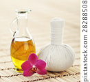 Spa aromatherapy with fragrant oil and a flower 28288508