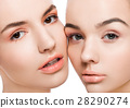 Two beautiful models with natural beauty makeup 28290274
