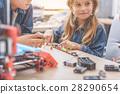 Interested smiling children in studio 28290654