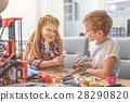 Happy couple of smiling children 28290820