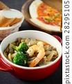 새우, 버섯, 스페인 요리 28295105