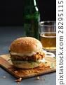 fried chicken burger 28295115