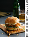fried chicken burger 28295116