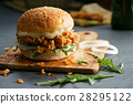 fried chicken burger 28295122