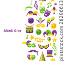 Greeting Invitation for Mardi Gras and Carnival 28296613