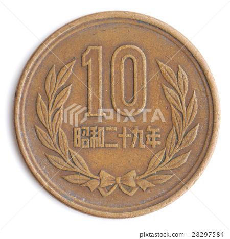 기자 10 1954 년 (일본의 동전 10 엔 동전) 28297584