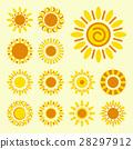 Set of daisy icons isolated 28297912