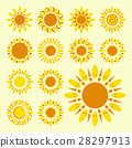 Set of daisy icons isolated 28297913