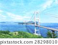 shimanami sea route, Kurushima-Kaikyō Bridge, bridge 28298010