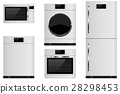 Household appliances - refrigerator, oven 28298453