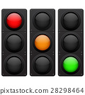 Traffic lights. Red, yellow, green lamp on 28298464