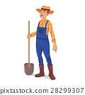 farmer, man, shovel 28299307