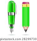 筆 鉛筆 向量 28299730