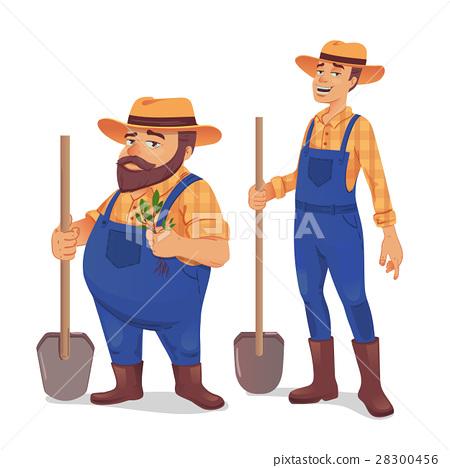 Farmer vector illustration 28300456