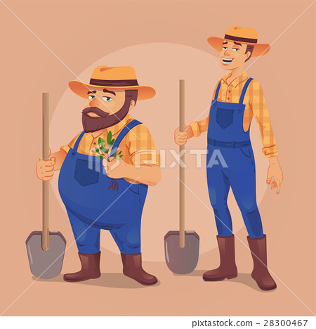 Farmer vector illustration 28300467