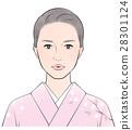 기모노 차림의 여성 28301124