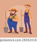 Farmer vector illustration 28302416