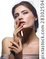 Beautiful girl in veil 28302594