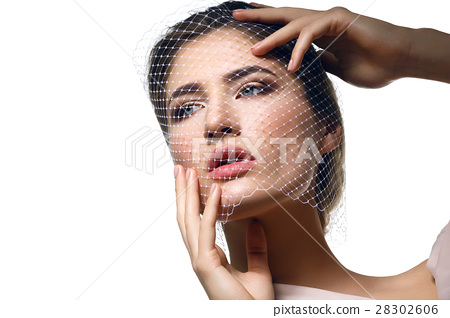 Beautiful girl in veil 28302606