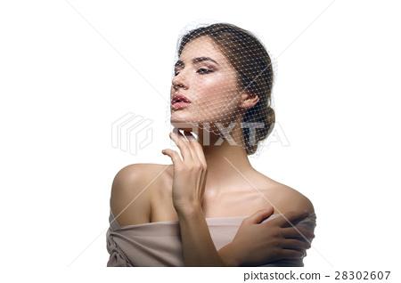 Beautiful girl in veil 28302607