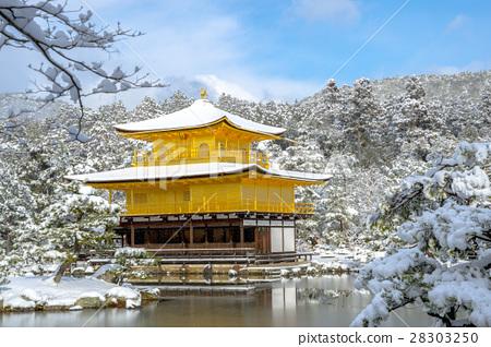 金閣寺的雪化妝 28303250