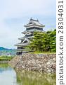 Beautiful Matsumoto castle in Japan in spring  28304031