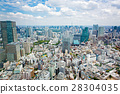 View from above on Tokyo Tower with skyline in 28304035