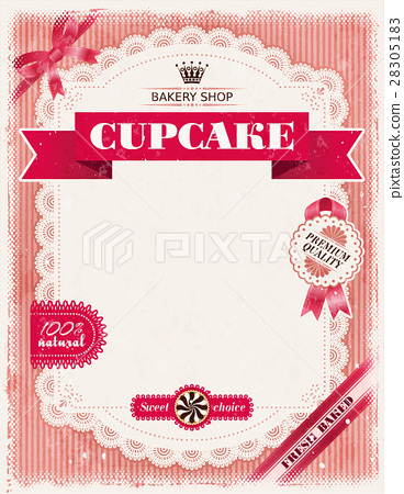 Poster of confectionery bakery with lacy frame 28305183