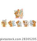 数字 熊 矢量 28305205