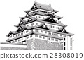 Nagoya Castle [Hand-painted] 28308019