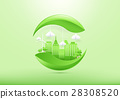 Ecology concept with green city and trees. 28308520