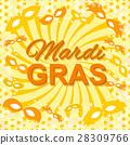 Background with Mardi Gras Mask 28309766
