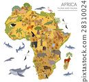 Flat Africa flora and fauna map constructor  28310024