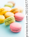 Tasty sweet macarons. 28310077