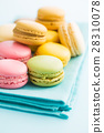Tasty sweet macarons. 28310078