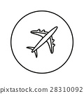 aircraft, airplane, icon 28310092