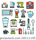 Modern equipment for kitchen 28311195