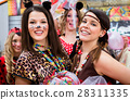 Girls on Rose Monday celebrating German Carnival 28311335