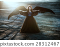Angel with black wings 28312467