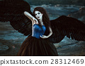 angel, black, wing 28312469