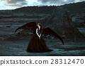 angel, black, wing 28312470