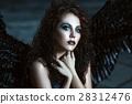 angel, black, wing 28312476