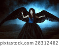 Angel with black wings 28312482