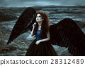 Angel with black wings 28312489