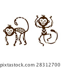 Monkey vector illustration. 28312700