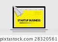 Paper Rocket Startup Business Concept 28320561