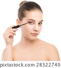 mascara, closeup, applying 28322740