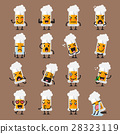 Glass of beer character emoji set 28323119